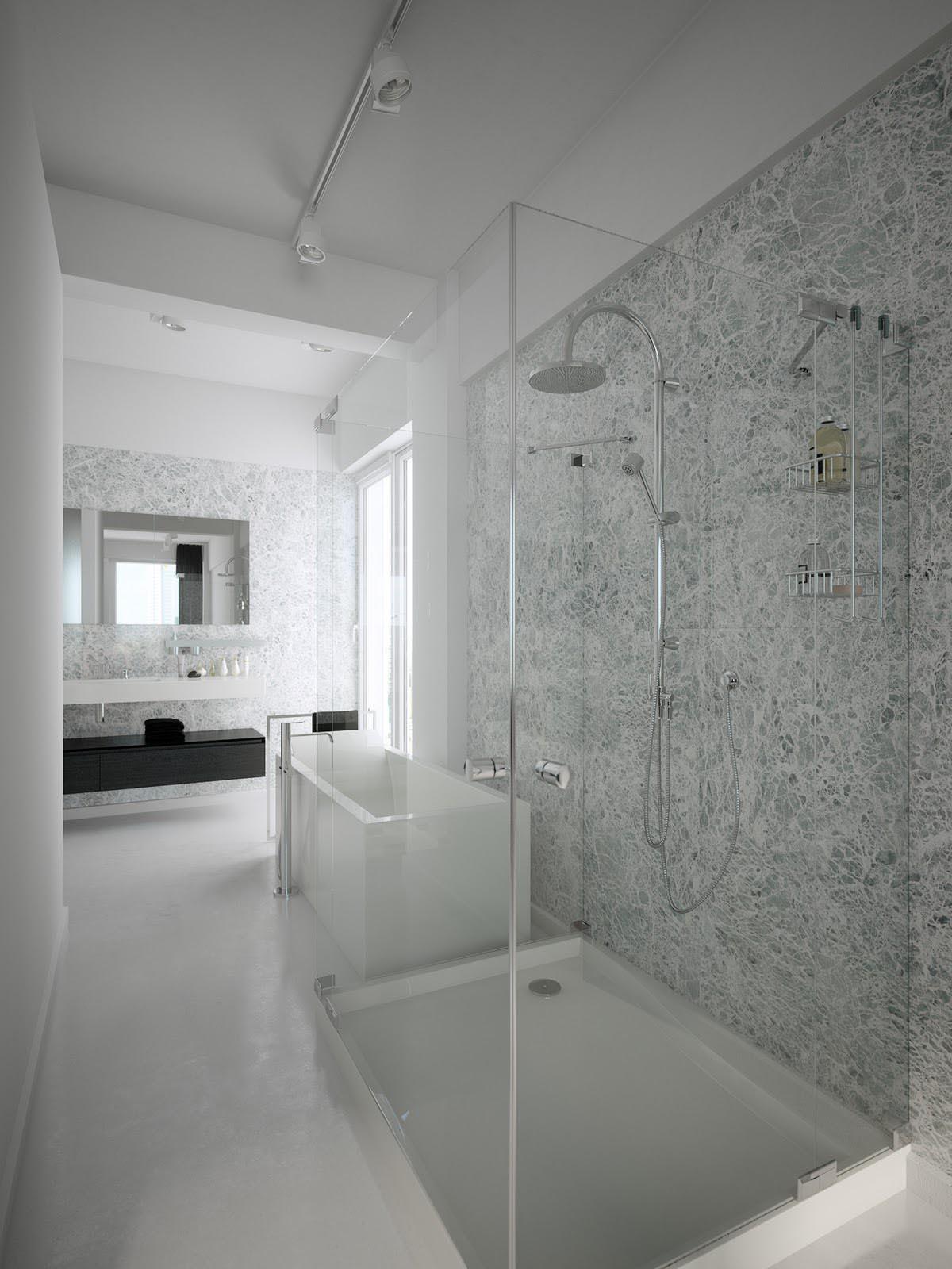 Unsere echtglasduschen durchblick nach ma bulling for Bathroom designs using mariwasa tiles