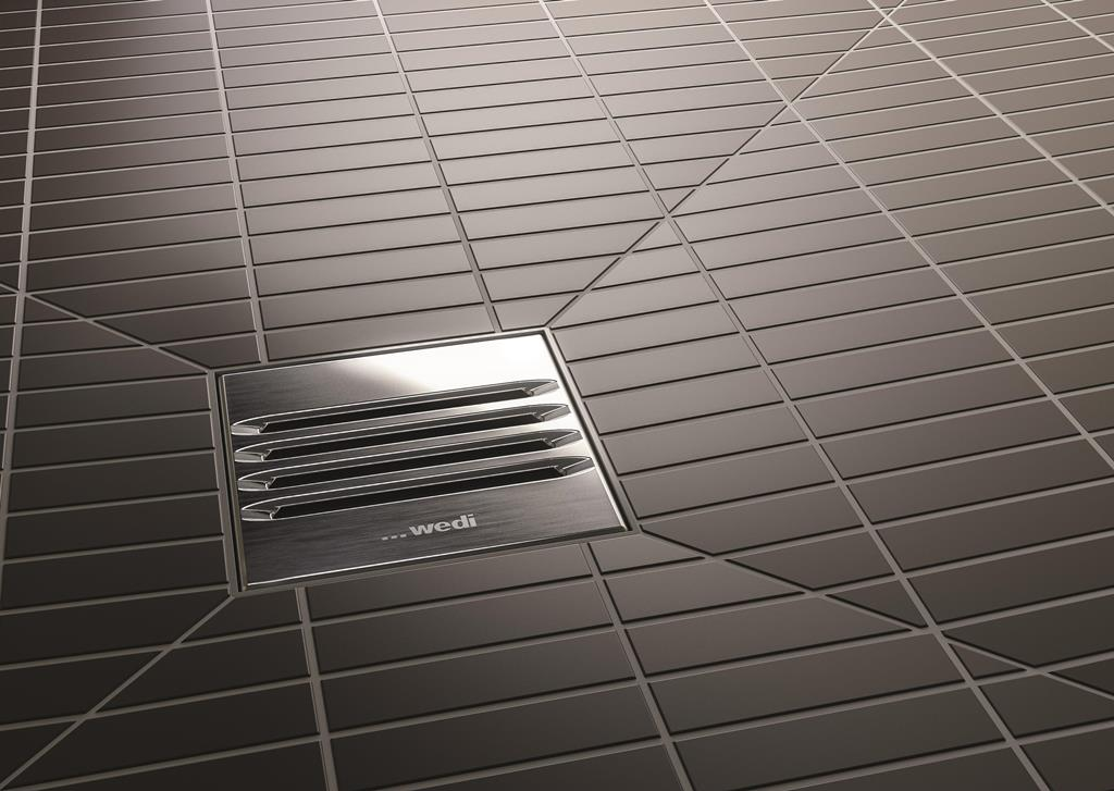 Quarzplatten Dusche : Wedi Shower Drain Installation