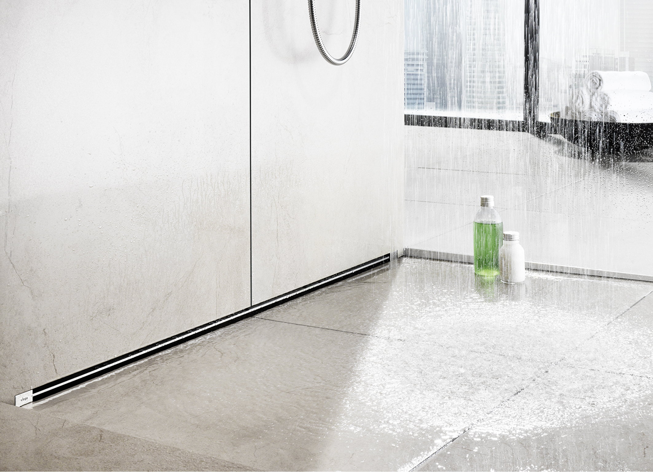 Abfluss Dusche Modern : Viega Wall Shower Drain