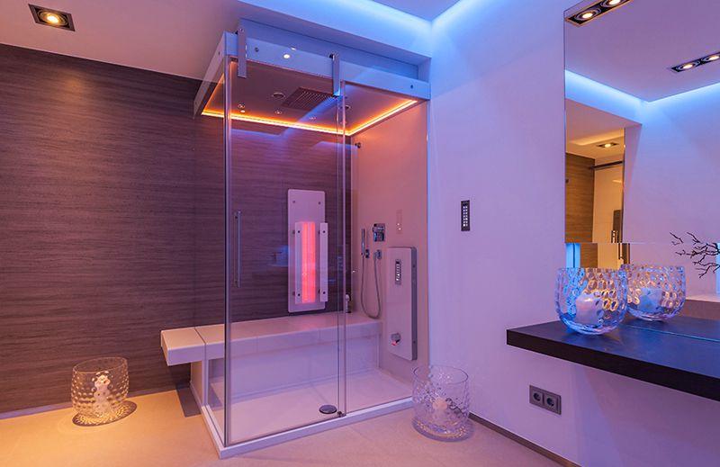 trend infrarot dusche bulling bad und heizung pforzheim. Black Bedroom Furniture Sets. Home Design Ideas