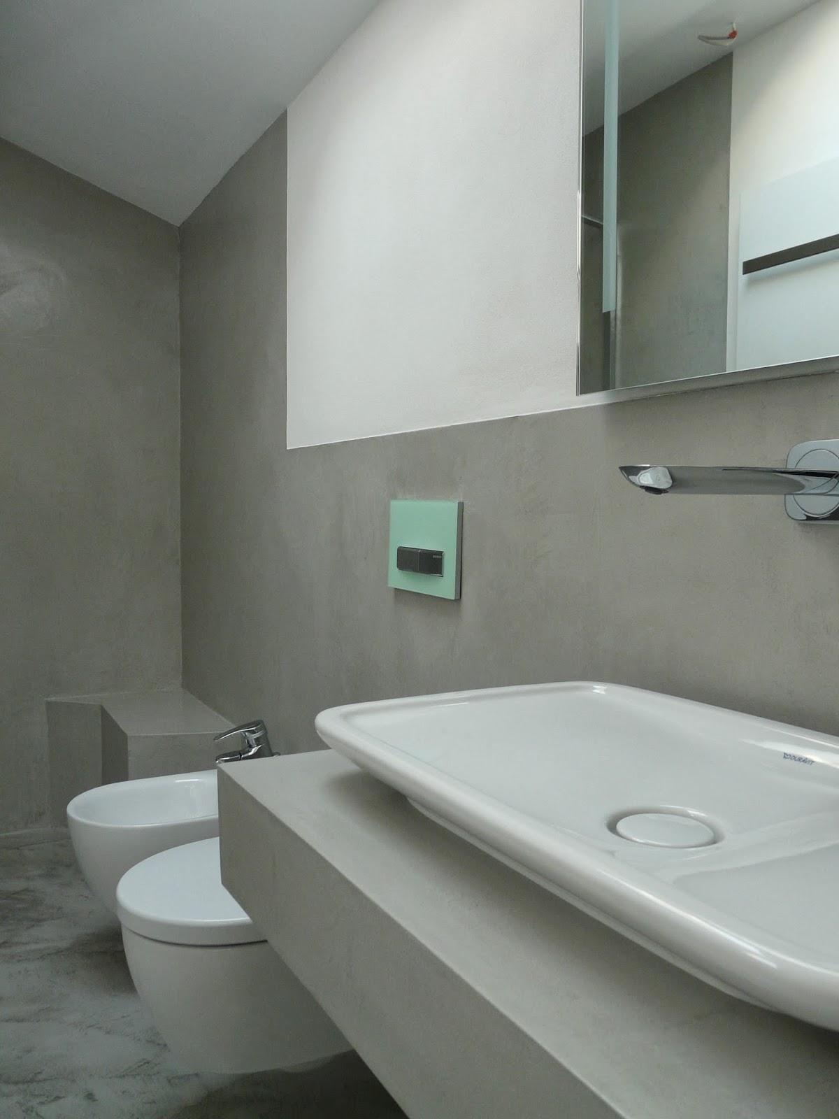 Badezimmer Betonoptik Spachtel